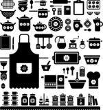 厨房减速火箭的器物 免版税库存图片