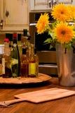 厨房向日葵 免版税库存照片