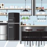 厨房启发设计 免版税库存图片