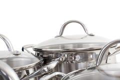 厨房商品的图象系列。 平底锅 免版税库存照片