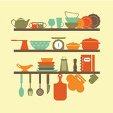 厨房器物象 库存例证