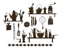 厨房器物(向量) 免版税库存图片