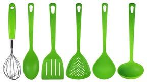 厨房器物-绿色 库存照片