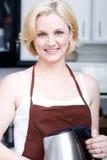 厨房妇女 图库摄影