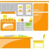 厨房室传染媒介 免版税图库摄影