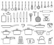 厨房工具和器物 库存图片