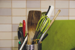厨房工具混合 免版税库存照片