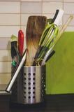 厨房工具混合 图库摄影