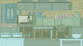 厨房平的例证 免版税库存图片