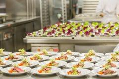 厨房开胃菜预习功课 免版税图库摄影