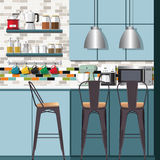 厨房想法&设计 免版税库存图片