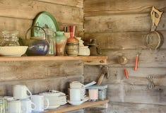 厨房架子 免版税库存图片
