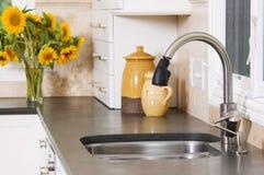 厨房水槽 免版税库存照片