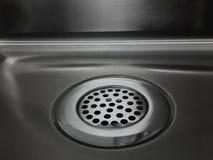 厨房流失水槽 免版税图库摄影
