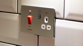 厨房烹饪器材电源插座 免版税库存图片