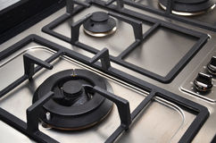厨房煤气炉在厨房里 免版税库存照片