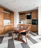 厨房现代新 免版税图库摄影