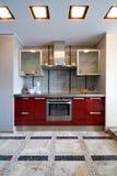 厨房现代新 库存照片