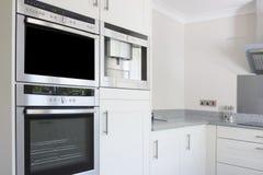 厨房现代烤箱不锈钢 库存图片