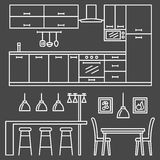 厨房现代家具 库存照片