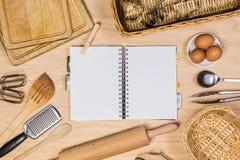 厨房用工具加工木 库存照片