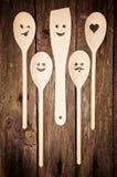 厨房用工具加工木 免版税图库摄影