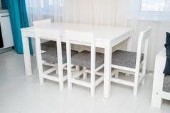 厨房用桌的摄影 库存图片