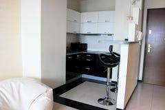 厨房的内部 免版税库存图片