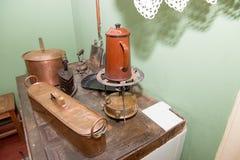厨房的片段在安娜・安德烈耶夫娜・阿赫玛托娃 免版税库存图片