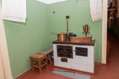 厨房的片段 免版税库存照片