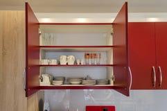 厨房碗柜 免版税库存图片