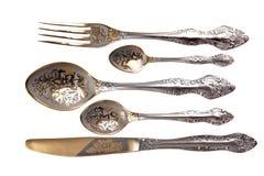 厨房碗筷 免版税库存照片