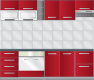 厨房空间 免版税库存照片