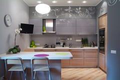 厨房空间 免版税库存图片