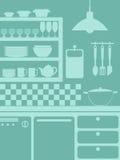 厨房背景 免版税图库摄影