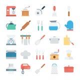 厨房色的传染媒介象1 库存例证