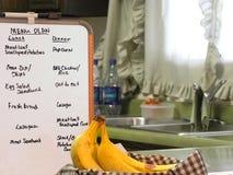 厨房菜单计划 免版税库存照片