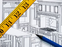 厨房计划整修 免版税库存照片
