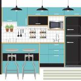 厨房设计 免版税图库摄影