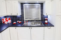 厨房豪华白色 图库摄影