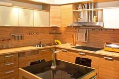 厨房轻的木头 库存照片