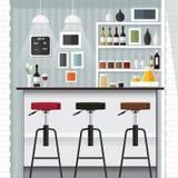 厨房酒吧 免版税库存图片