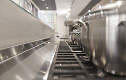 厨房金属批评照片 免版税库存图片