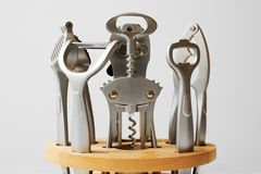 厨房集合工具 免版税库存照片
