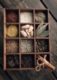 厨房集合香料 免版税库存图片
