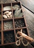 厨房集合香料 免版税库存照片