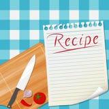 厨房食谱设计背景 库存例证