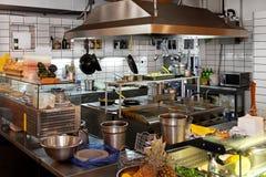 厨房餐馆 免版税库存照片
