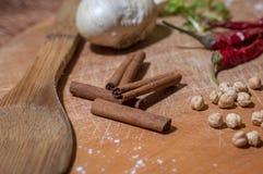 厨房香料细节 免版税库存图片