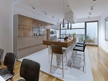 厨房高科技样式 免版税库存照片